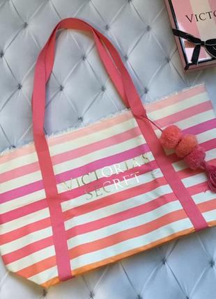 Сумка victoria's secret, пляжная сумка розовая виктория сикрет...