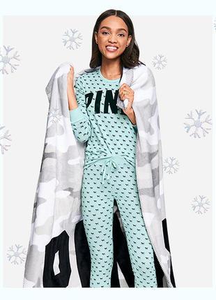 Плед victoria's secret pink оригинал пледик покрывало одеяло в...