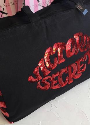 Сумка victoria's secret оригинал, большая чёрная сумка шоппер ...