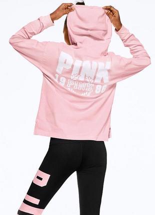 Кофта с капюшоном victoria's secret pink оригинал реглан пулов...
