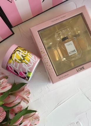 Набор victoria's secret love оригинал, духи парфюм скраб викто...