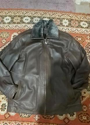 Зимняя -осення мужская кожанная куртка размер xl