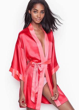 Халатик кимоно victoria's secret оригинал, красный халат викто...