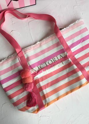 Розовая сумка victoria's secret оригинал, пляжная сумочка шопп...