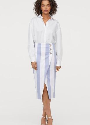 Полосатая юбка миди h&m, длинная юбка с размером нм юбка карандаш
