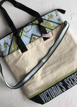 Сумка кулер victoria's secret оригинал пляжная шоппер две сумк...