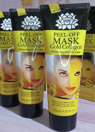 Золотая маска-пленка anti aging 24k gold collagen peel off fac...