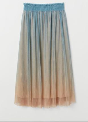 Фатиновая юбка миди с градиентом h&m