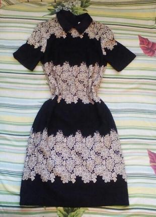 Платье с люрексовой нитью хс-с