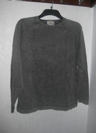 Стильный джемпер свитер кофта old khaki серый цвет асфальта по...