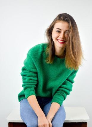 Polo ralph lauren яркий зеленый шерстяной джемпер, новый свите...