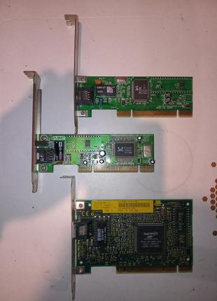 Сетевая карта LAN PCI 100Mb 3Com Realtek
