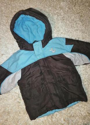 Теплая куртка на флисе мальчику