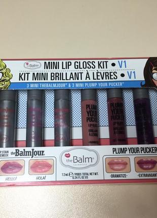 Thebalm mini lip gloss v1 kit набор блесков для губ