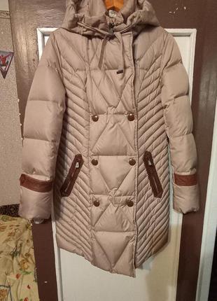 Пуховик пальто женское італія зима теплий