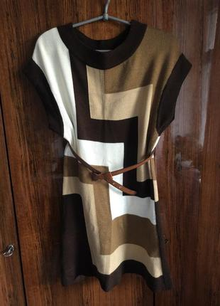 Платье {туника} вязанное