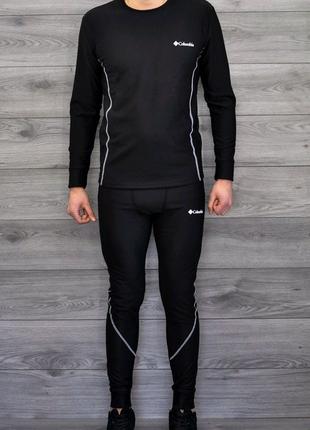 Мужской термо комплект термо белье черное