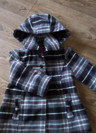 Теплое драповое пальто. зимнее пальто осень весна