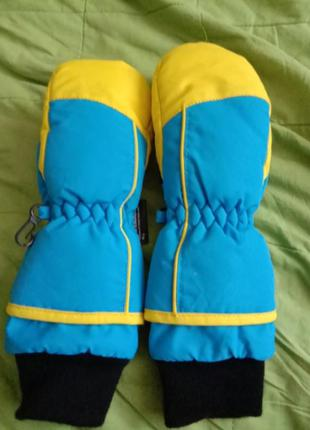 Теплые краги термо рукавицы 3-5лет