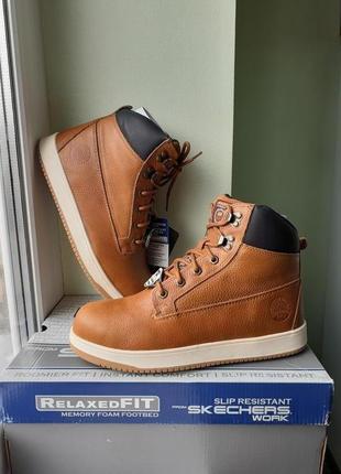 Skechers. Кожаные демисезонные ботинки. Оригинал из  США.
