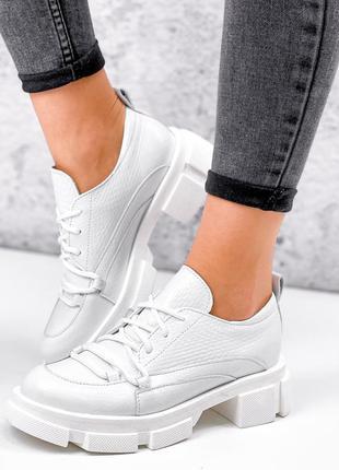 Туфли под питон,  натуральная кожа