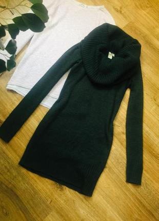 Трендова міні сукня-туніка з об'ємним горлом дуже гарного кольору