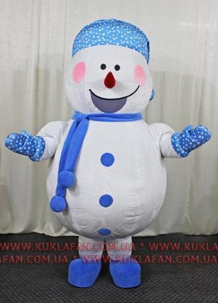 Надувной костюм Снеговик Снежинка