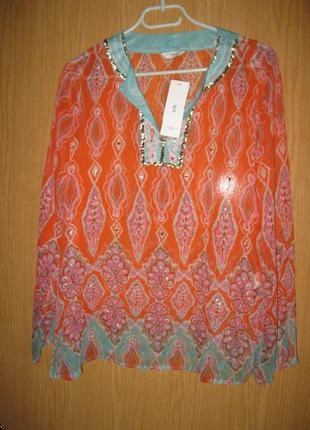 """Новая легкая блузка """"new look""""  р.46 шелк 100%"""