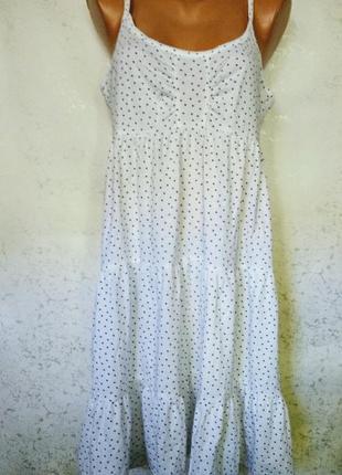Ночнушка платье в принт сердечки 16/50-52 размера