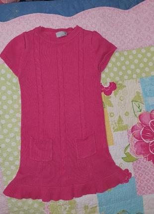Платье туника розовое кораловое красивое в садик 5 лет 110 - 1...