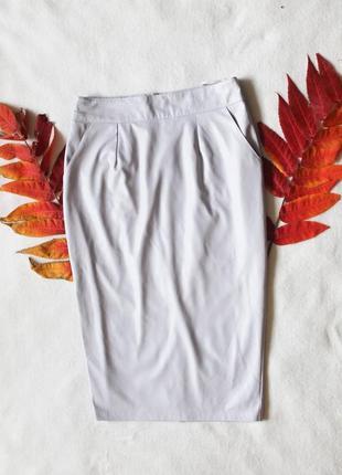 Сиреневая кожаная юбка карандаш от river island, размер м