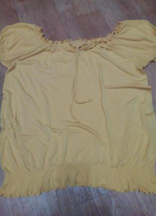 Блуза легкий трикотаж желтая