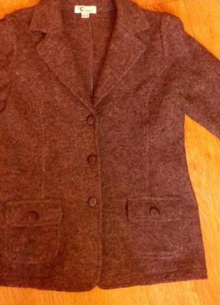 Жакет пиджак шерсть 100%
