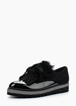 Туфли ботинки лак замш мех   последняя пара