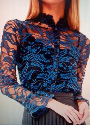 Блуза кружевная + топ + подарок !!! (сюрприз или на ваш выбор)