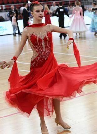 Платье бальное стандарт для девушки 15-17 лет