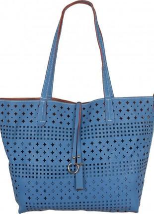 2 сумки = сумка с перфорацией + сумка (вкладка)   синий
