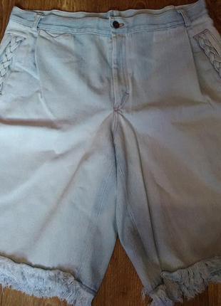 Бриджи шорты джинсовые хлопок
