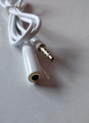 Aux кабель, подовжувач, удлинитель, 3.5 мм. Довжина 1м.