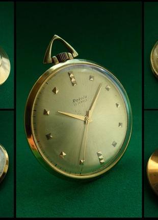«РАКЕТА-СКЕЛЕТОН» золочение AU-20 УЛЬТРА-тонкие часы, СССР 70-х.