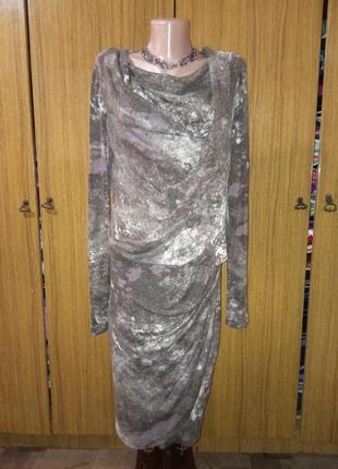 Теплое платье с  запахом