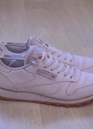 Reebok classic мужские кроссовки белые кожа оригинал