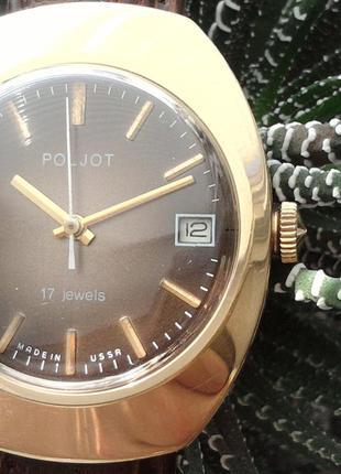 «ПОЛЁТ_БОЧКА»  СССР начала 80-х., ЗОЛОЧЕННЫЕ часы, механика