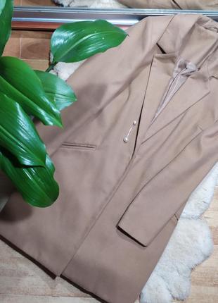 Пальто пиджак тренч кардиган осень деми куртка кашемир беж беж...