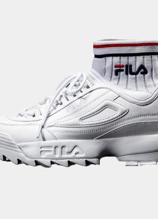 Кроссовки Fila Disruptor 2 ECO Sockfit all white 45