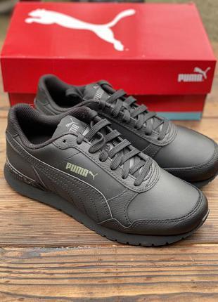 Кроссовки puma st runner v2 leather sneakers jr