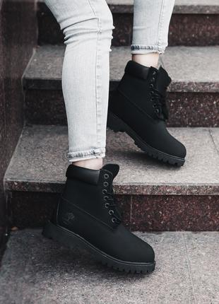 Ботинки Timberland Black(ТЕРМО)   Тимберленд Чёрные 37
