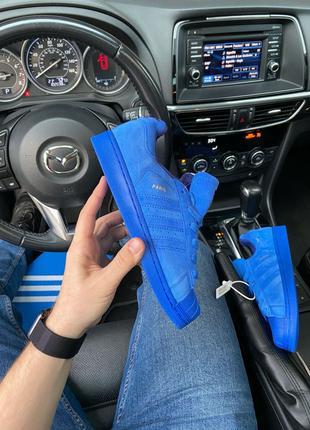 Кроссовки Adidas Superstar Paris Full Blue (Синий) Адидас Супе...