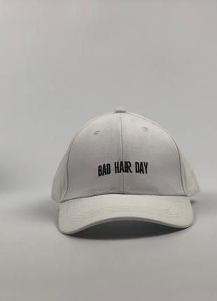 Кепка Бейсболка Мужская Женская City-A Bad Hair Day Белая