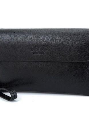 Мужской клатч кошелек портмоне Jeep мужская барсетка гаманець